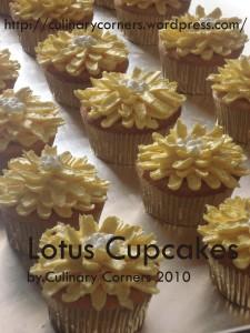 Lotus Cupcakes
